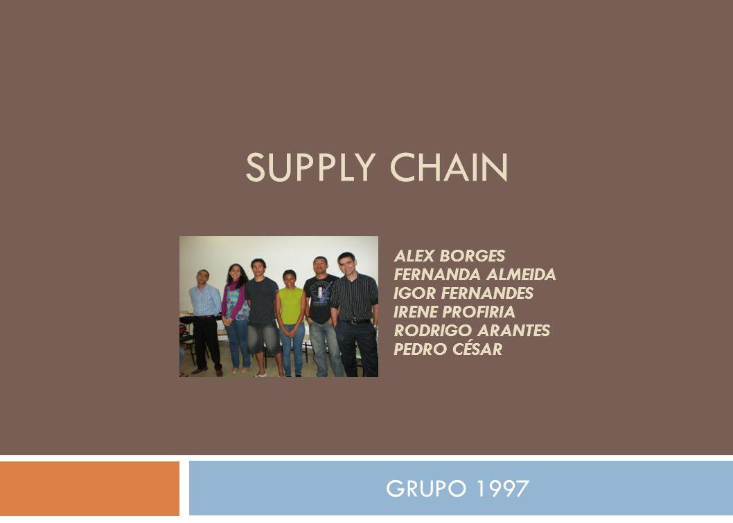 SUPPLY CHAIN GRUPO 1997 ALEX BORGES FERNANDA ALMEIDA IGOR FERNANDES IRENE PROFIRIA RODRIGO ARANTES PEDRO CÉSAR