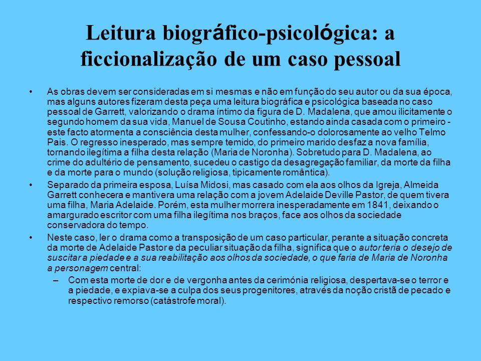 Leitura biogr á fico-psicol ó gica: a ficcionalização de um caso pessoal As obras devem ser consideradas em si mesmas e não em função do seu autor ou