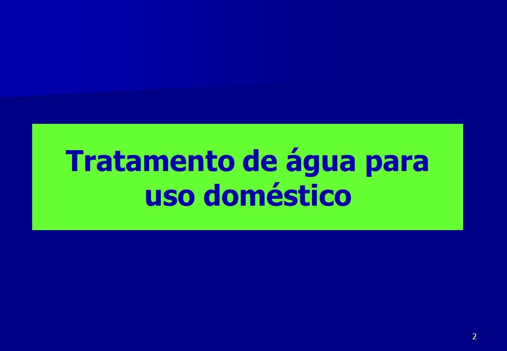 3 PROGRAMA A água no mundo Tratamento da água para uso doméstico Legislação (portaria n° 518 de 25/ 03/ 2004) Sistema de abastecimento Fases (captação, tratamento, reservação, adução e distribuição) Padrões de qualidade (USP) Contaminantes básicos