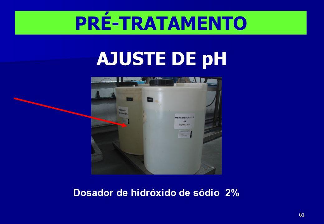 61 Dosador de hidróxido de sódio 2% PRÉ-TRATAMENTO AJUSTE DE pH
