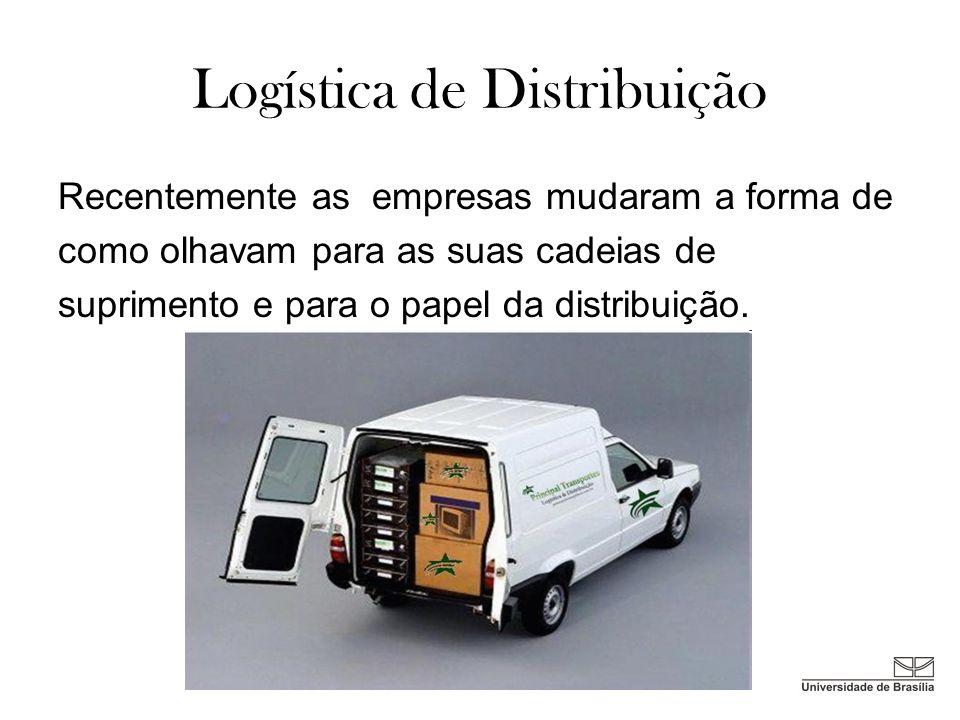 Três fatores que mais influenciam as mudanças ocorridas na Distribuição das empresas são: Níveis de exigência cada vez maior por parte dos clientes Pressão constante para redução de custos Aumento de velocidade na realização do serviço