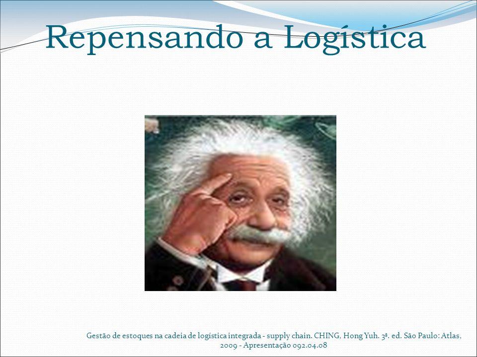 Repensando a Logística Gestão de estoques na cadeia de logística integrada - supply chain. CHING, Hong Yuh. 3ª. ed. São Paulo: Atlas, 2009 - Apresenta