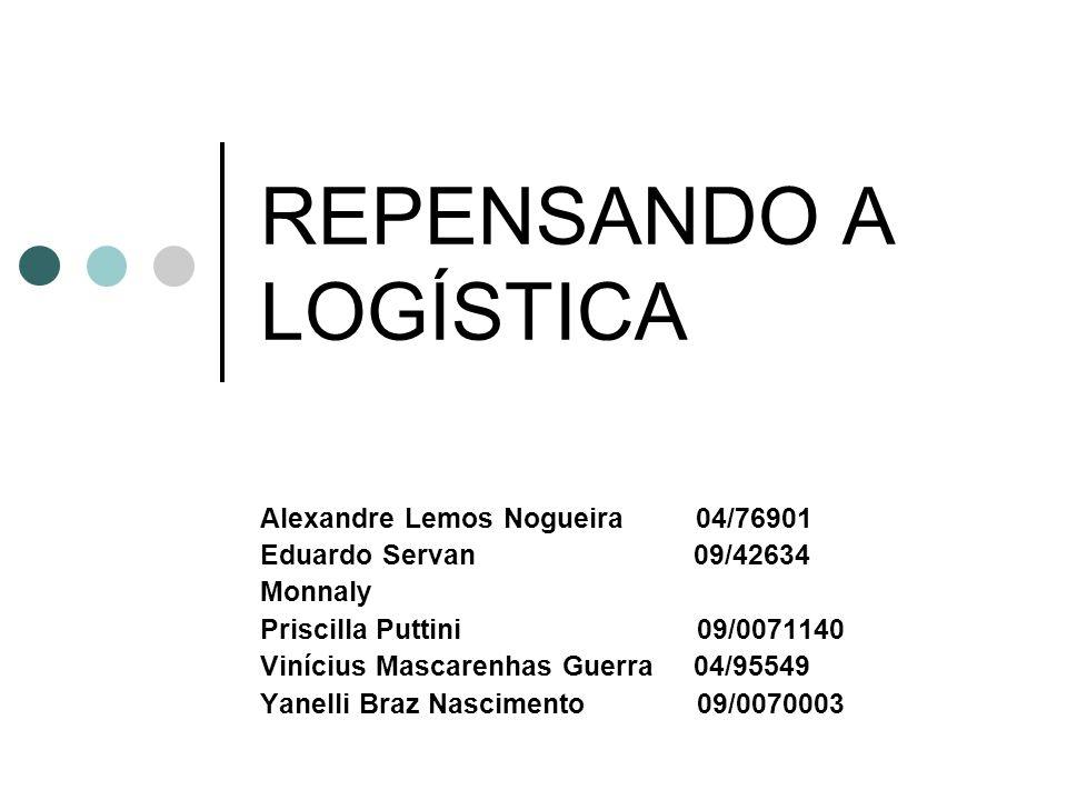 REPENSANDO A LOGÍSTICA Alexandre Lemos Nogueira 04/76901 Eduardo Servan 09/42634 Monnaly Priscilla Puttini 09/0071140 Vinícius Mascarenhas Guerra 04/9