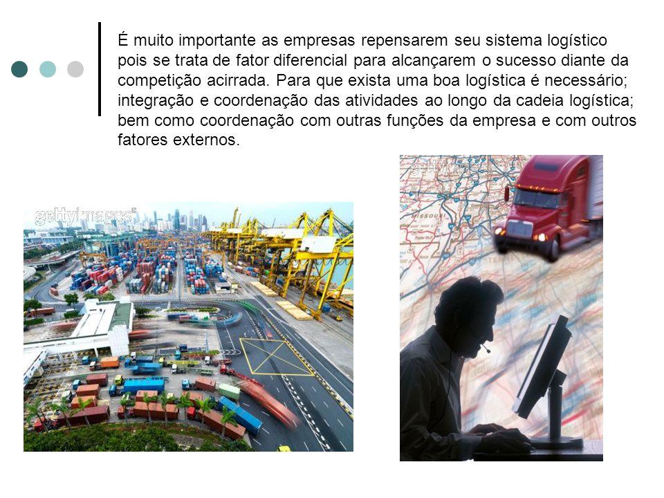 É muito importante as empresas repensarem seu sistema logístico pois se trata de fator diferencial para alcançarem o sucesso diante da competição acir