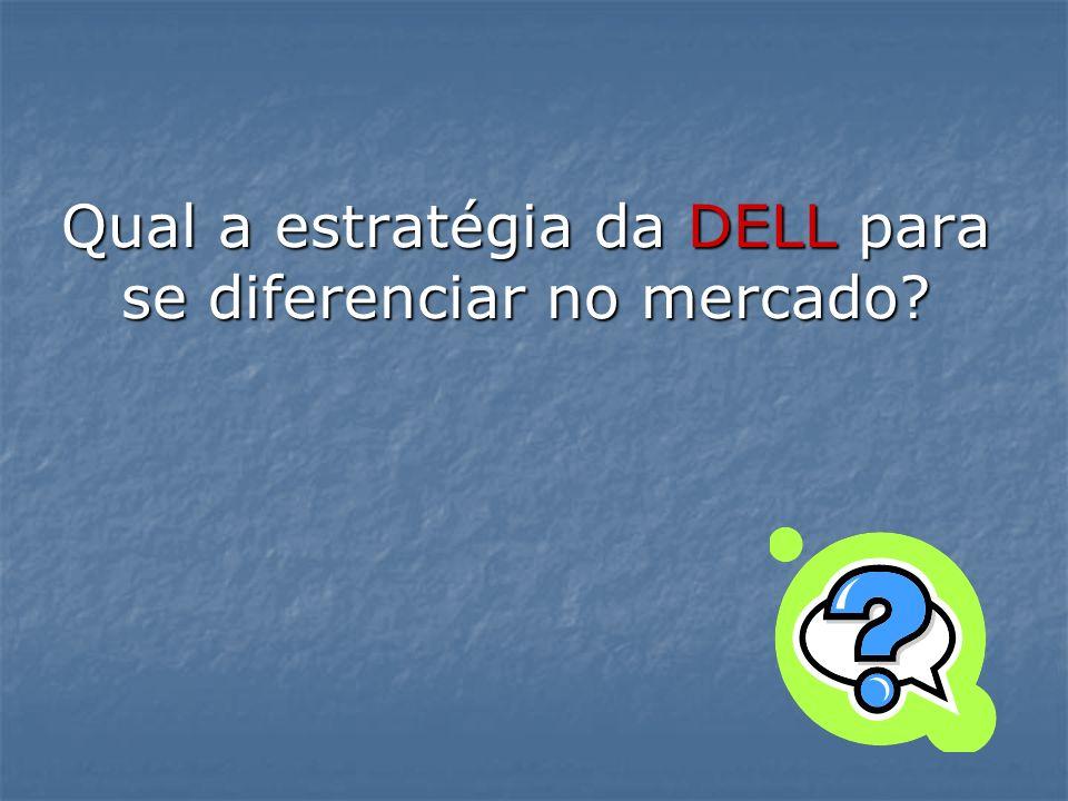 Qual a estratégia da DELL para se diferenciar no mercado?