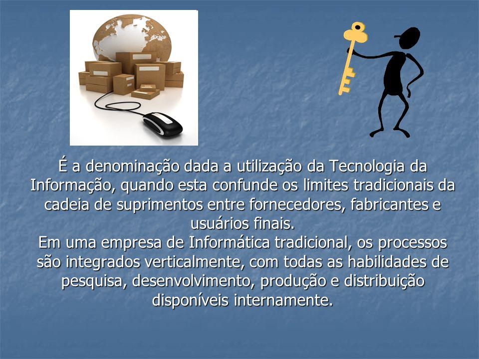 É a denominação dada a utilização da Tecnologia da Informação, quando esta confunde os limites tradicionais da cadeia de suprimentos entre fornecedore