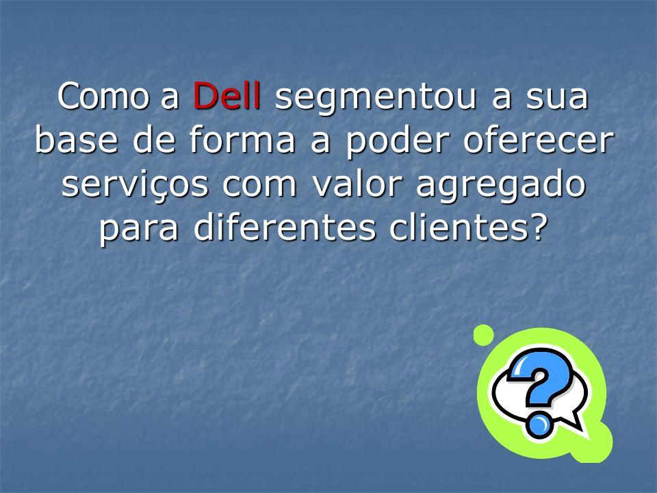 Como a Dell segmentou a sua base de forma a poder oferecer serviços com valor agregado para diferentes clientes?