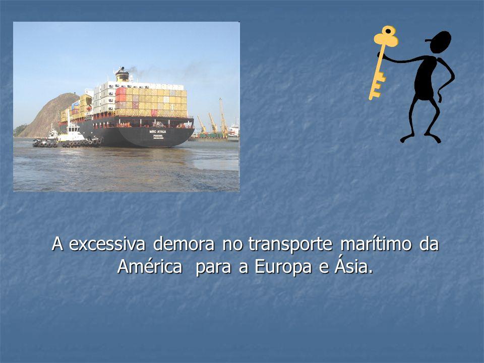 A excessiva demora no transporte marítimo da América para a Europa e Ásia.
