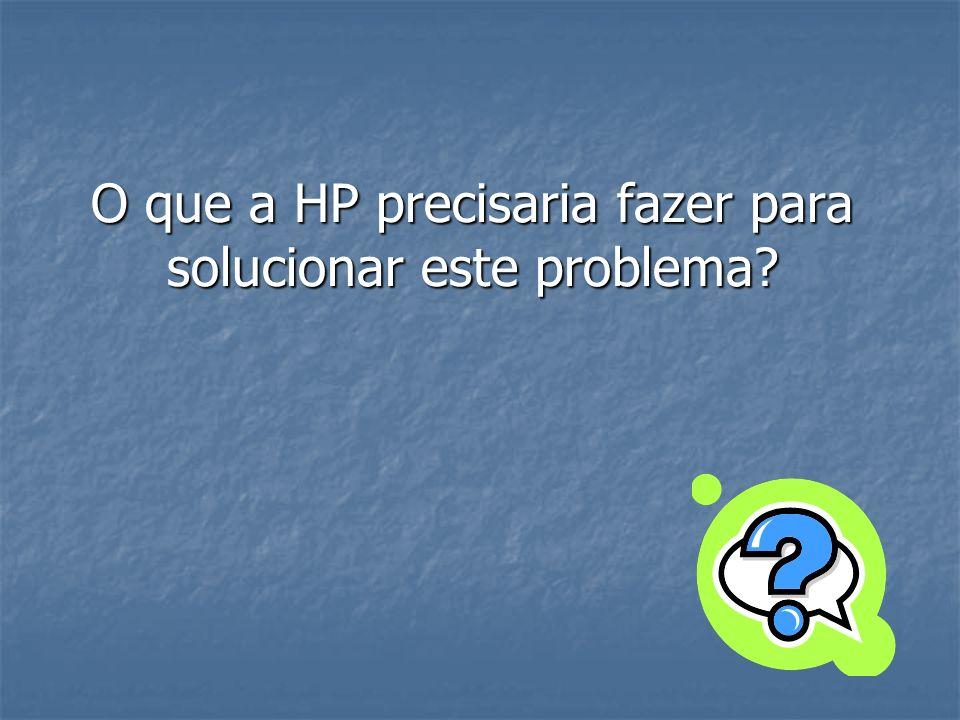 O que a HP precisaria fazer para solucionar este problema?