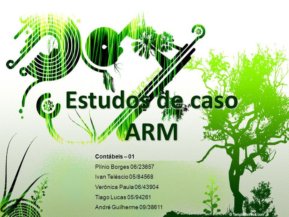 Estudos de caso ARM Contábeis – 01 Plínio Borges 06/23857 Ivan Teléscio 05/84568 Verônica Paula 06/43904 Tiago Lucas 05/94261 André Guilherme 09/38611