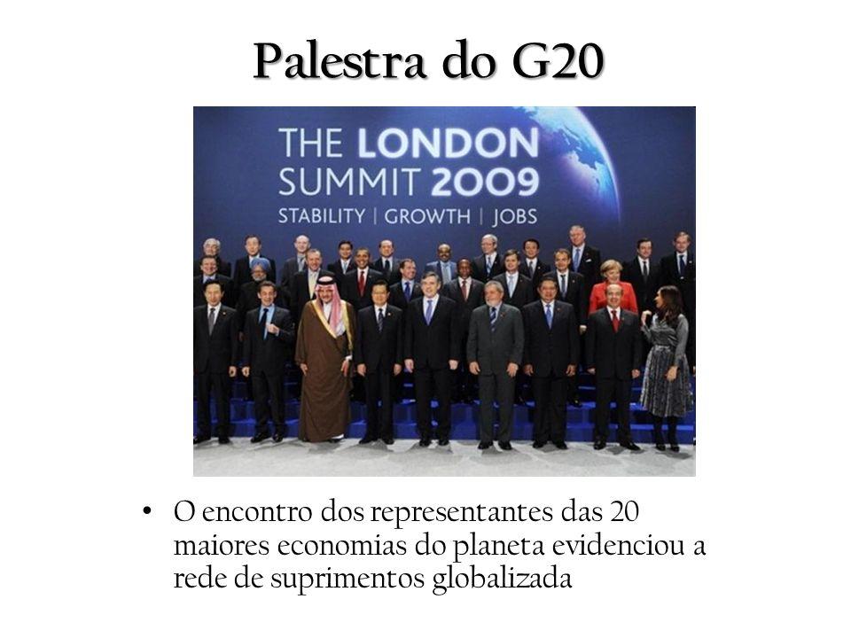 Palestra do G20 O encontro dos representantes das 20 maiores economias do planeta evidenciou a rede de suprimentos globalizada