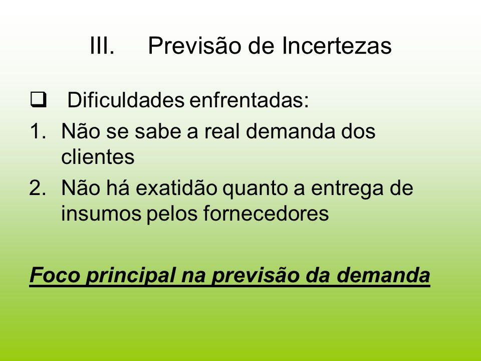 Métodos de previsão 1.Pesquisas de Intenção (Telefone, carta, contatos pessoais) Pode necessitar de amostra muito grande, não há garantia de exatidão das respostas 2.