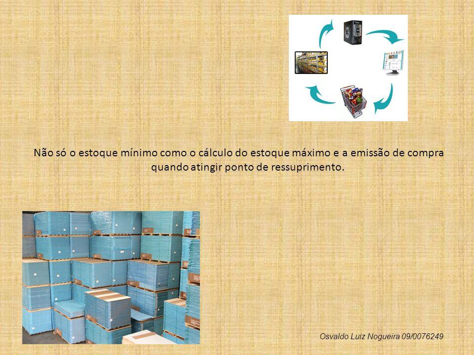 Não só o estoque mínimo como o cálculo do estoque máximo e a emissão de compra quando atingir ponto de ressuprimento. Osvaldo Luiz Nogueira 09/0076249
