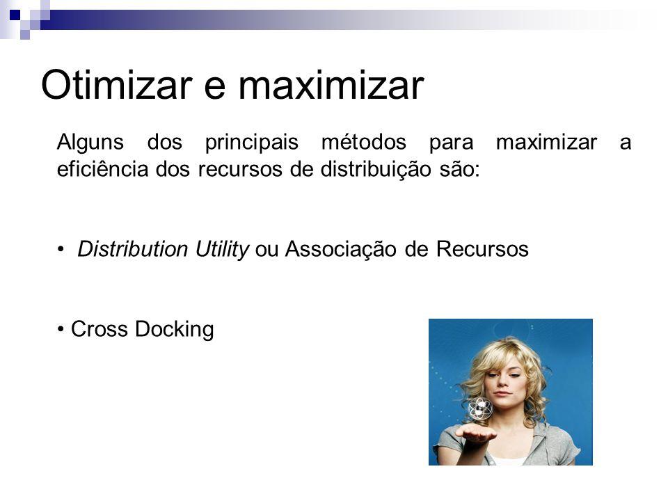 Otimizar e maximizar Alguns dos principais métodos para maximizar a eficiência dos recursos de distribuição são: Distribution Utility ou Associação de