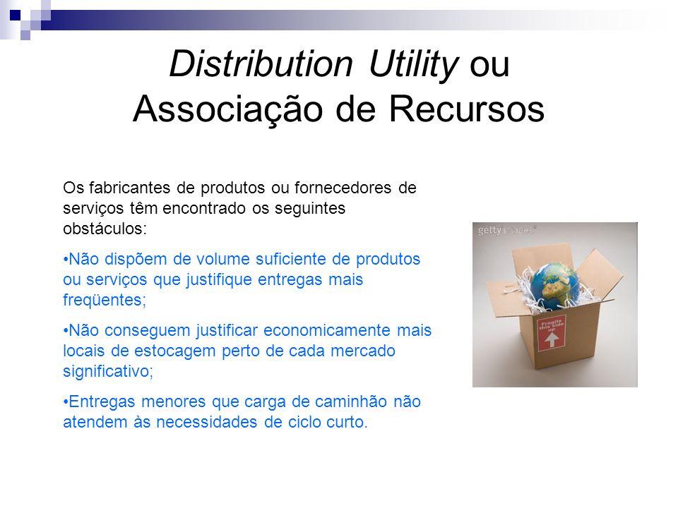 Distribution Utility ou Associação de Recursos Os fabricantes de produtos ou fornecedores de serviços têm encontrado os seguintes obstáculos: Não disp