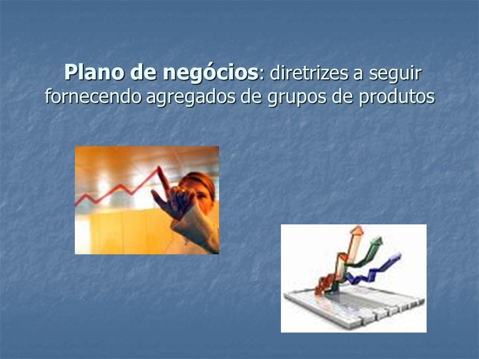 Plano de negócios : diretrizes a seguir fornecendo agregados de grupos de produtos Plano de negócios : diretrizes a seguir fornecendo agregados de gru