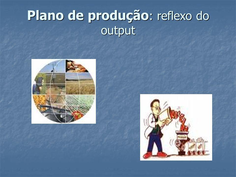 Plano de produção : reflexo do output
