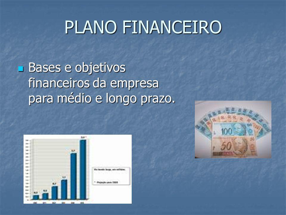 PLANO FINANCEIRO Bases e objetivos financeiros da empresa para médio e longo prazo. Bases e objetivos financeiros da empresa para médio e longo prazo.