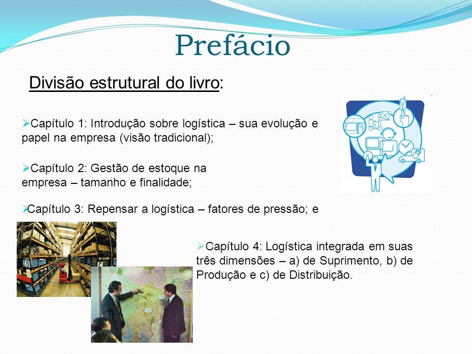 Prefácio Capítulo 1: Introdução sobre logística – sua evolução e papel na empresa (visão tradicional); Divisão estrutural do livro: Capítulo 2: Gestão