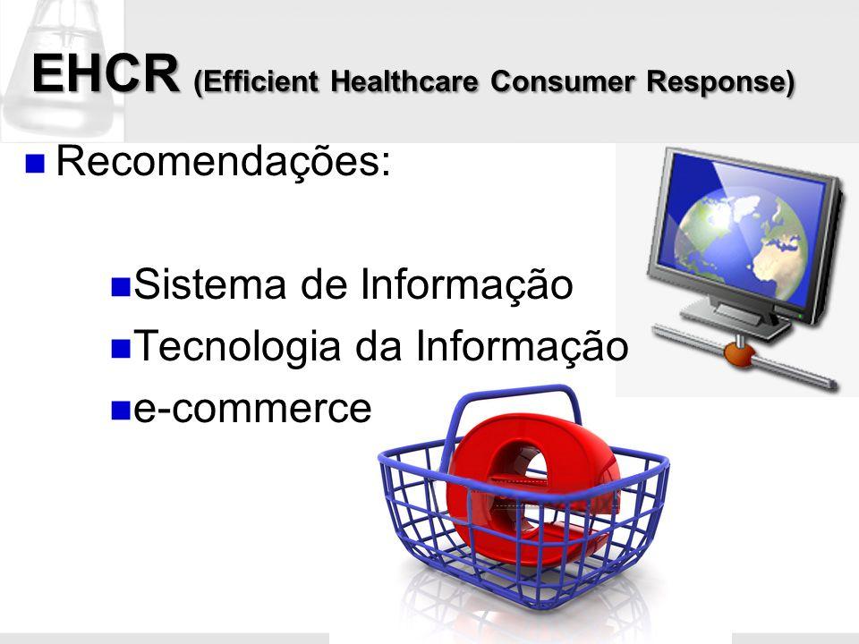 EHCR (Efficient Healthcare Consumer Response) Recomendações: Sistema de Informação Tecnologia da Informação e-commerce
