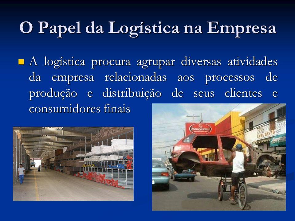 O Papel da Logística na Empresa A logística procura agrupar diversas atividades da empresa relacionadas aos processos de produção e distribuição de se