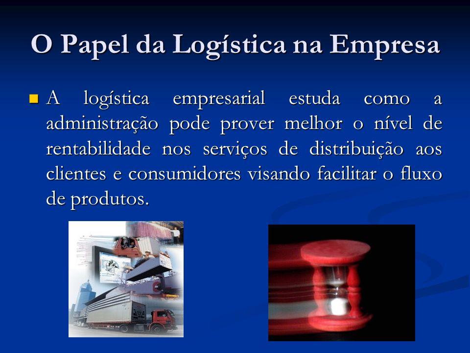 O Papel da Logística na Empresa A logística empresarial estuda como a administração pode prover melhor o nível de rentabilidade nos serviços de distri