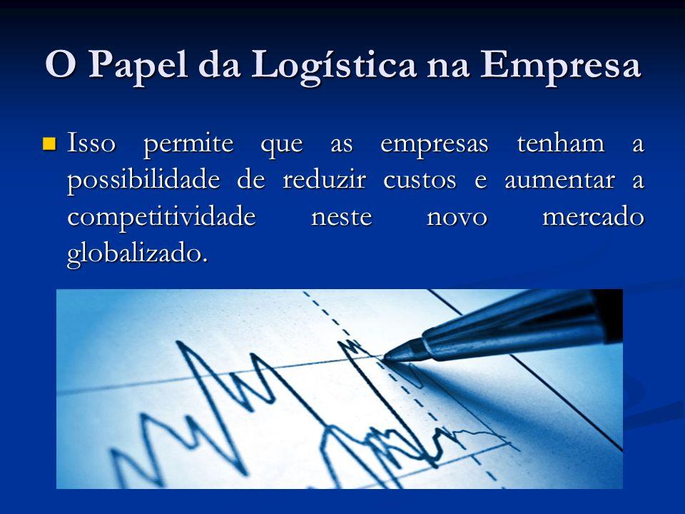O Papel da Logística na Empresa Isso permite que as empresas tenham a possibilidade de reduzir custos e aumentar a competitividade neste novo mercado