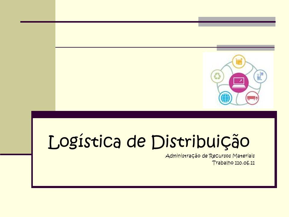 Logística de Distribuição Administração de Recursos Materiais Trabalho 110.06.11