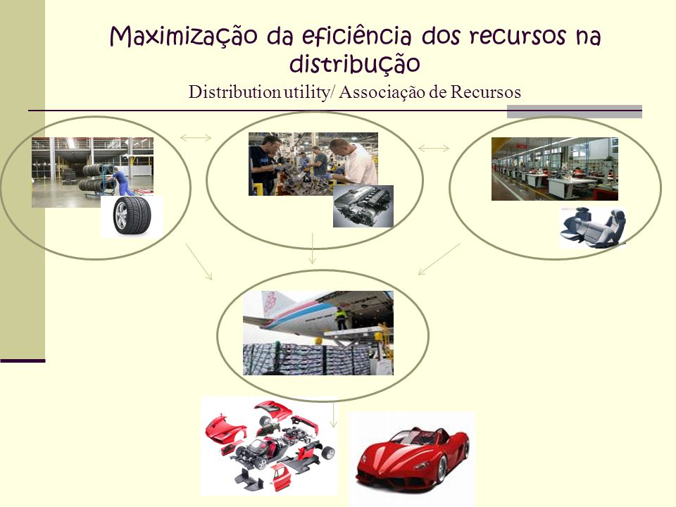 Maximização da eficiência dos recursos na distribução Distribution utility/ Associação de Recursos