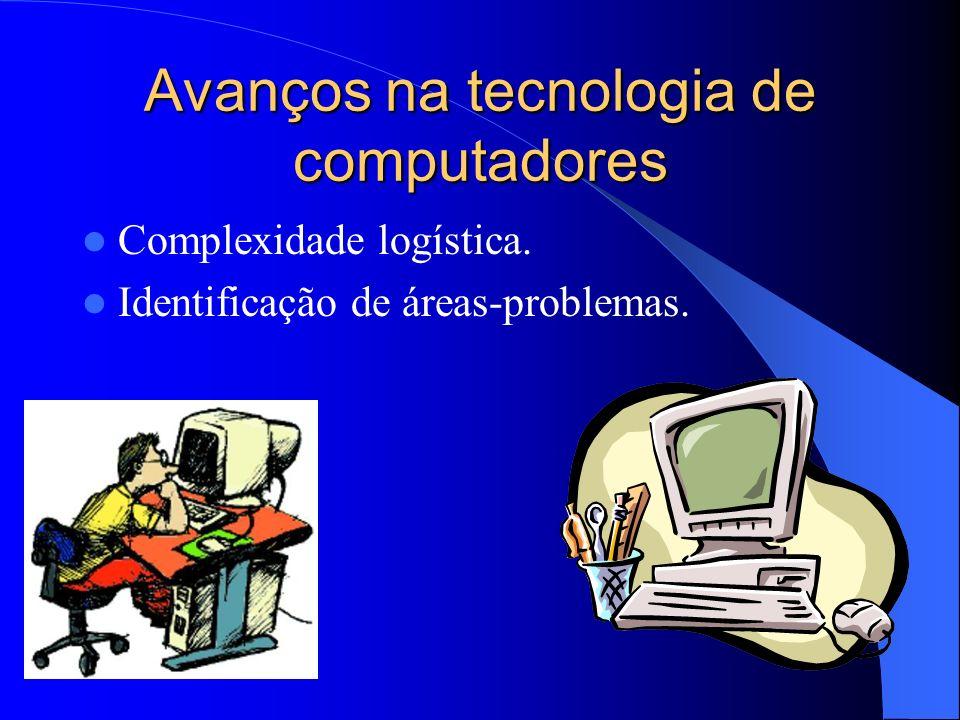 Avanços na tecnologia de computadores Complexidade logística. Identificação de áreas-problemas.
