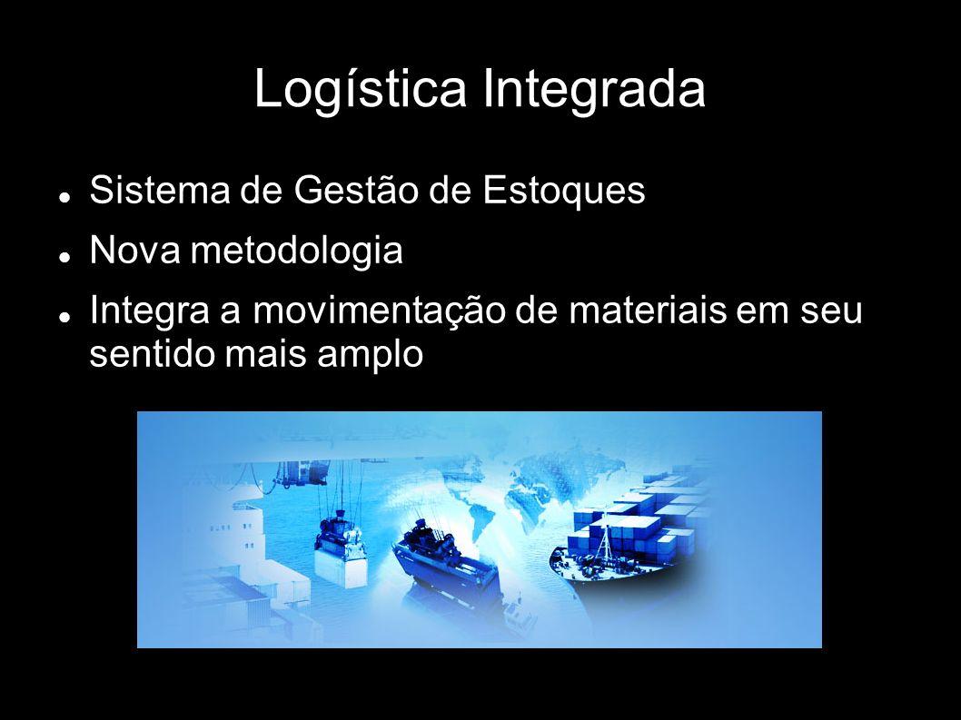 Logística Integrada Sistema de Gestão de Estoques Nova metodologia Integra a movimentação de materiais em seu sentido mais amplo