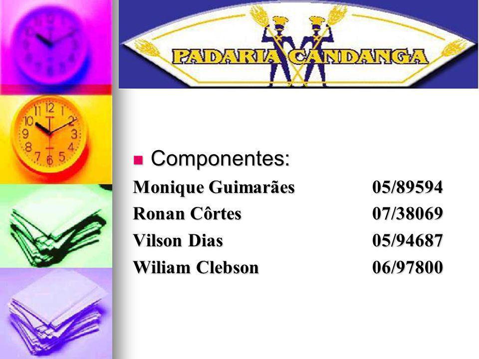 Componentes: Componentes: Monique Guimarães05/89594 Ronan Côrtes07/38069 Vilson Dias 05/94687 Wiliam Clebson 06/97800