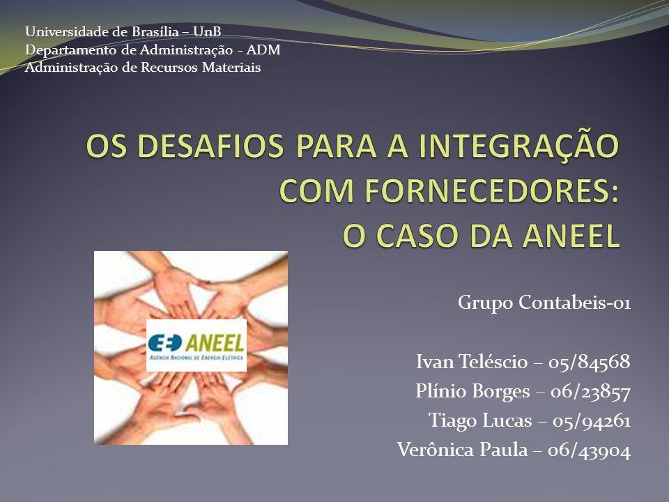 Grupo Contabeis-01 Ivan Teléscio – 05/84568 Plínio Borges – 06/23857 Tiago Lucas – 05/94261 Verônica Paula – 06/43904 Universidade de Brasília – UnB D