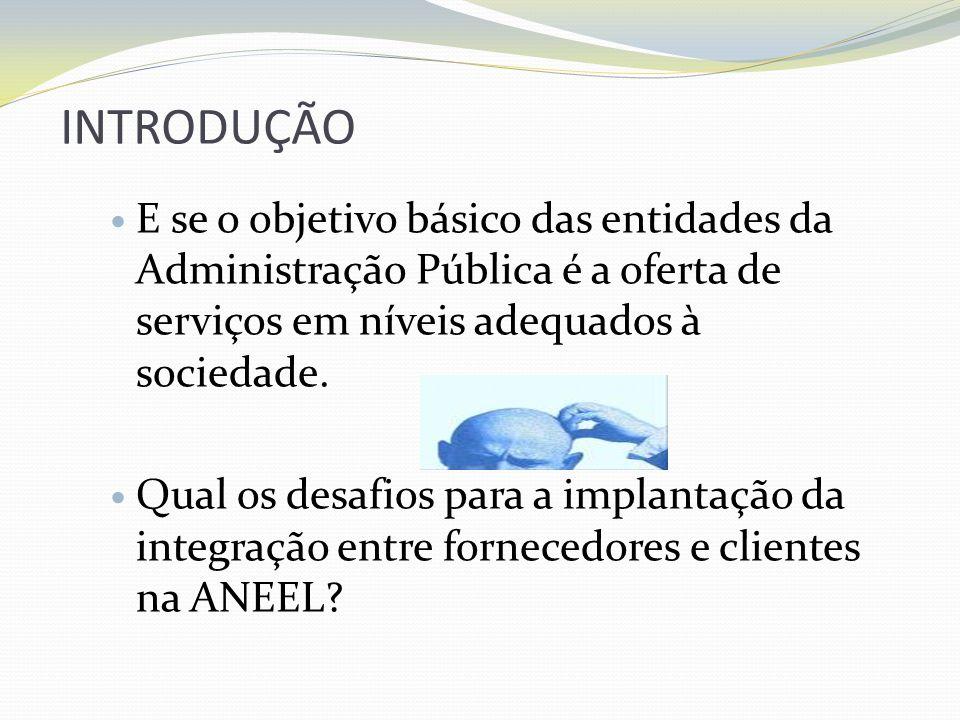 INTRODUÇÃO E se o objetivo básico das entidades da Administração Pública é a oferta de serviços em níveis adequados à sociedade. Qual os desafios para