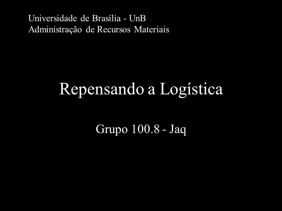 Repensando a Logística Grupo 100.8 - Jaq Universidade de Brasília - UnB Administração de Recursos Materiais