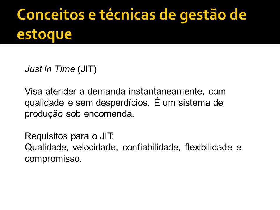 Just in Time (JIT) Visa atender a demanda instantaneamente, com qualidade e sem desperdícios. É um sistema de produção sob encomenda. Requisitos para