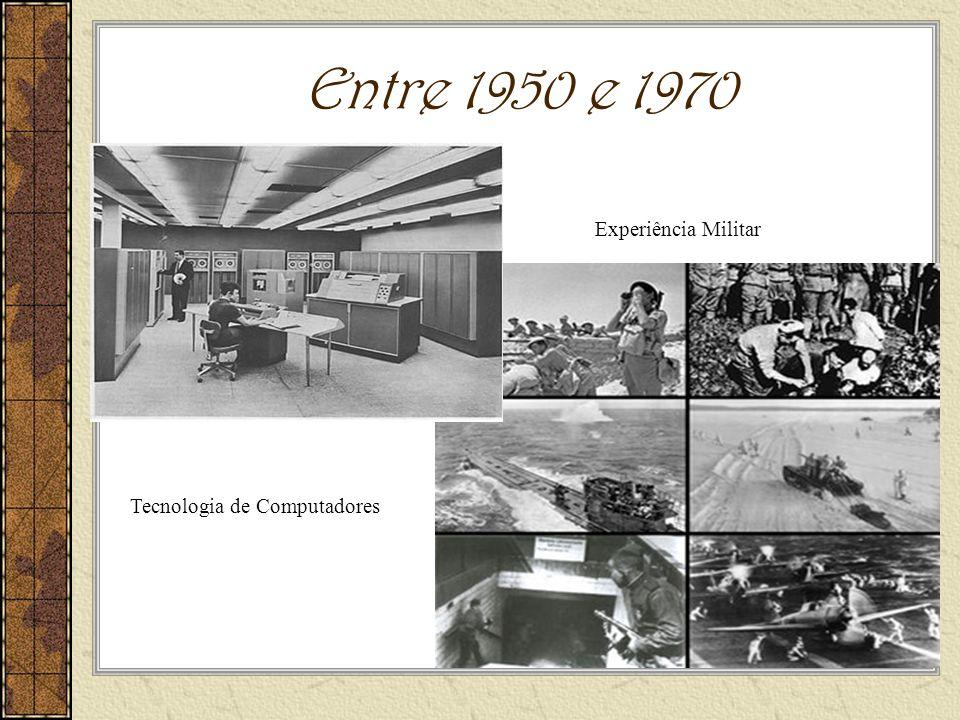 Entre 1950 e 1970 Tecnologia de Computadores Experiência Militar
