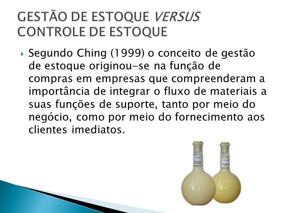 Segundo Ching (1999) o conceito de gestão de estoque originou-se na função de compras em empresas que compreenderam a importância de integrar o fluxo