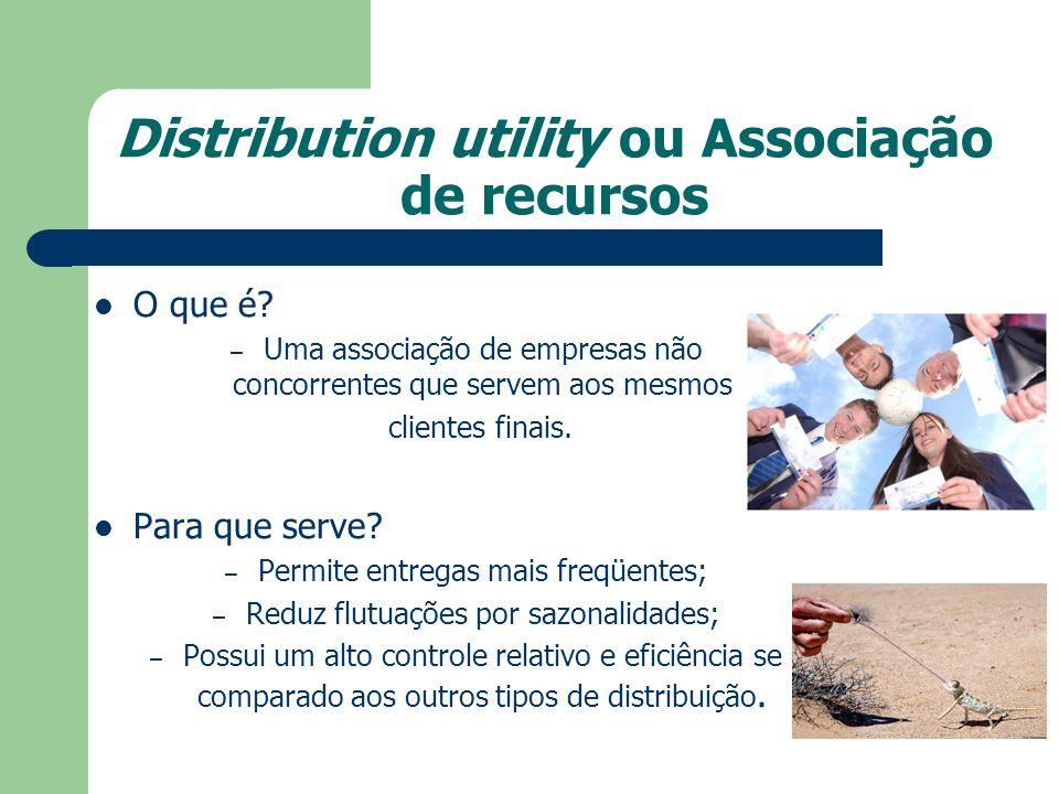 Distribution utility ou Associação de recursos O que é? – Uma associação de empresas não concorrentes que servem aos mesmos clientes finais. Para que