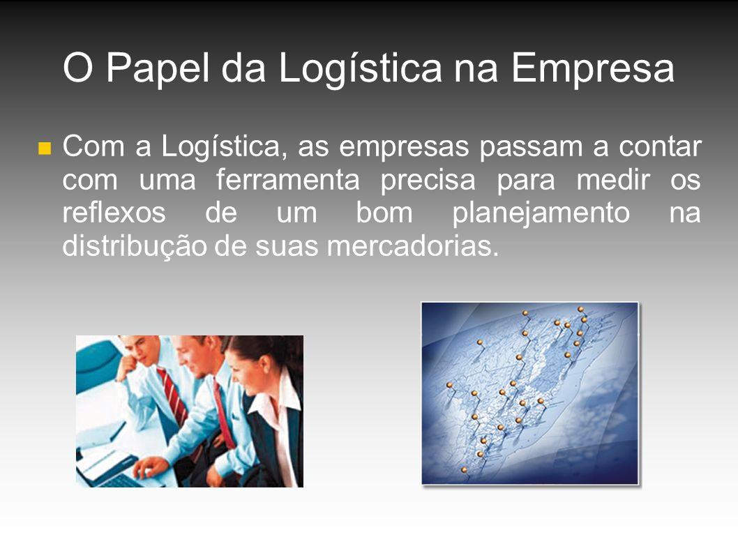 O Papel da Logística na Empresa Com a Logística, as empresas passam a contar com uma ferramenta precisa para medir os reflexos de um bom planejamento na distribução de suas mercadorias.