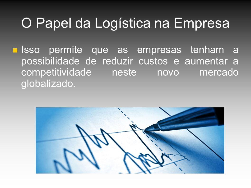 O Papel da Logística na Empresa Isso permite que as empresas tenham a possibilidade de reduzir custos e aumentar a competitividade neste novo mercado globalizado.