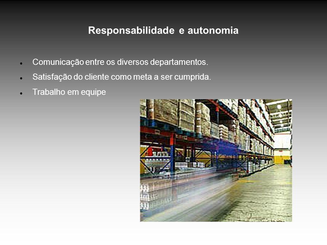 Responsabilidade e autonomia Comunicação entre os diversos departamentos.