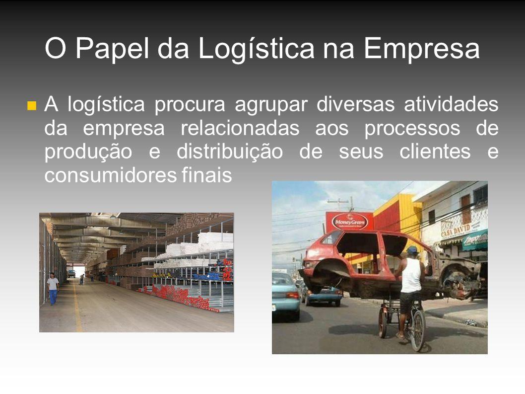 O Papel da Logística na Empresa A logística procura agrupar diversas atividades da empresa relacionadas aos processos de produção e distribuição de seus clientes e consumidores finais