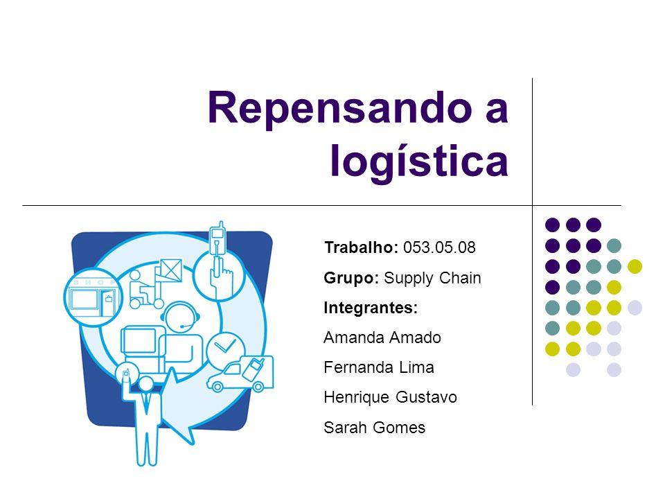 Repensando a logística Trabalho: 053.05.08 Grupo: Supply Chain Integrantes: Amanda Amado Fernanda Lima Henrique Gustavo Sarah Gomes