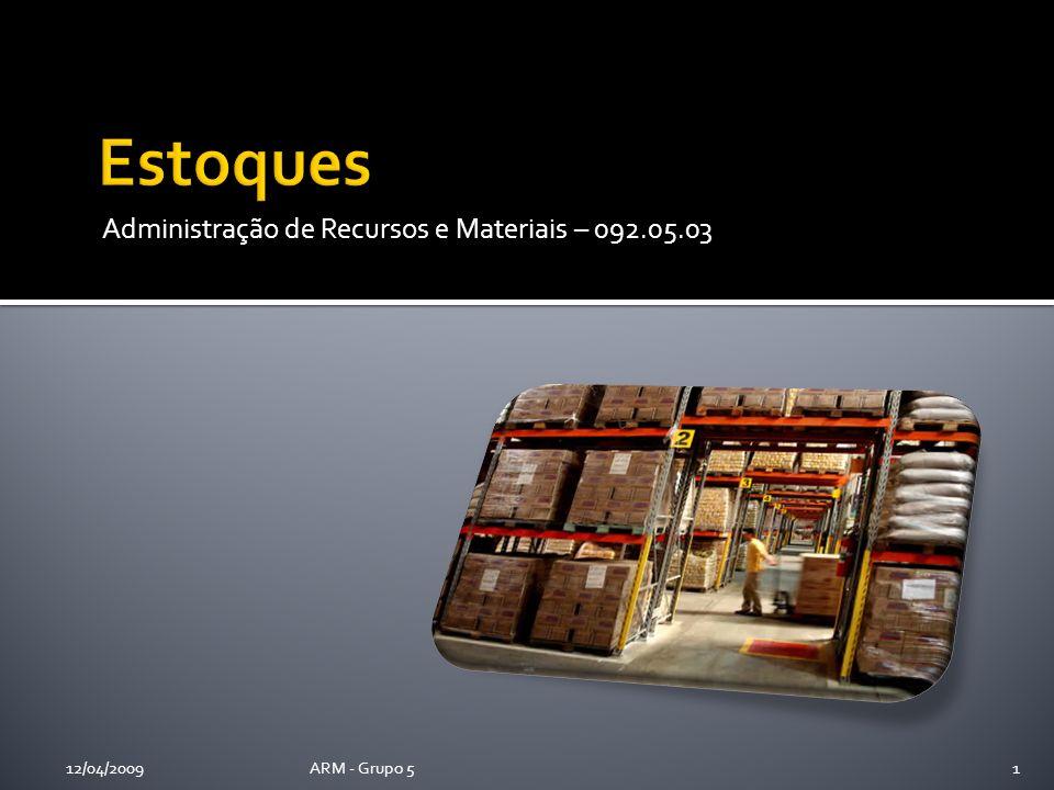 Administração de Recursos e Materiais – 092.05.03 12/04/2009ARM - Grupo 51