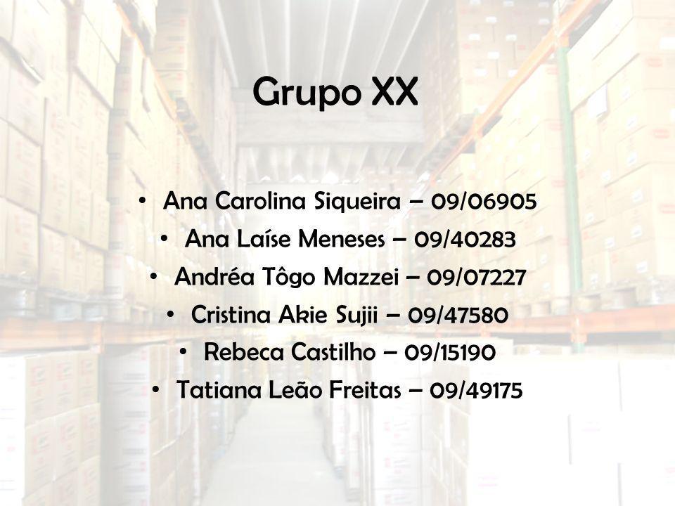 Grupo XX Ana Carolina Siqueira – 09/06905 Ana Laíse Meneses – 09/40283 Andréa Tôgo Mazzei – 09/07227 Cristina Akie Sujii – 09/47580 Rebeca Castilho –
