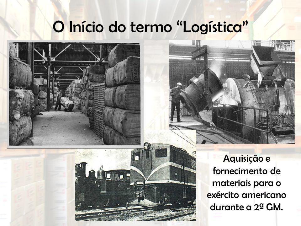 O Início do termo Logística Aquisição e fornecimento de materiais para o exército americano durante a 2ª GM.