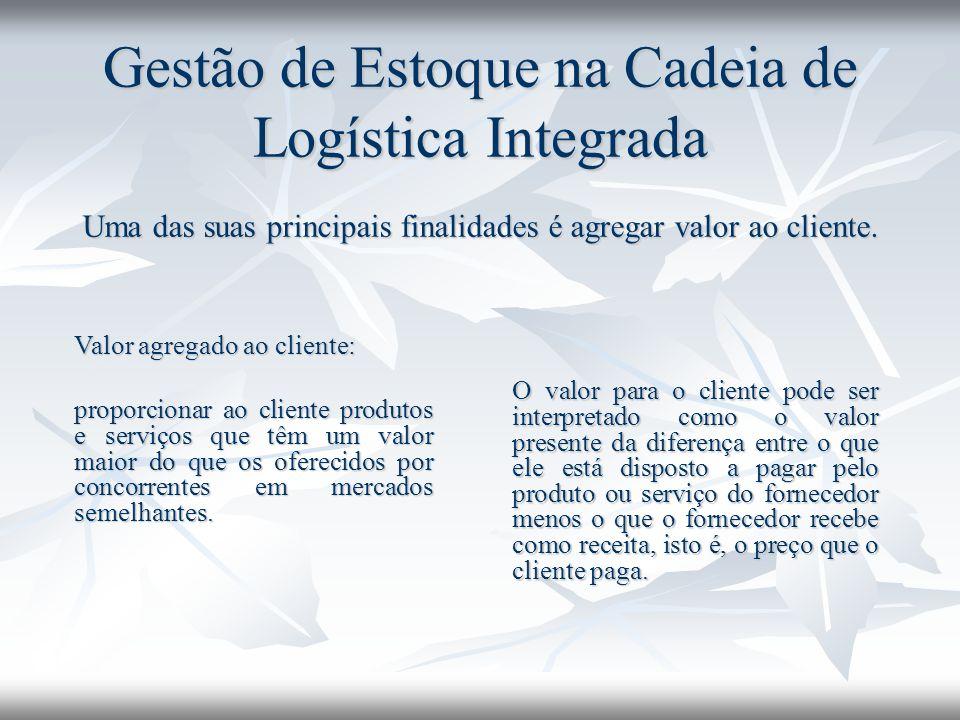 Gestão de Estoque na Cadeia de Logística Integrada Uma das suas principais finalidades é agregar valor ao cliente.