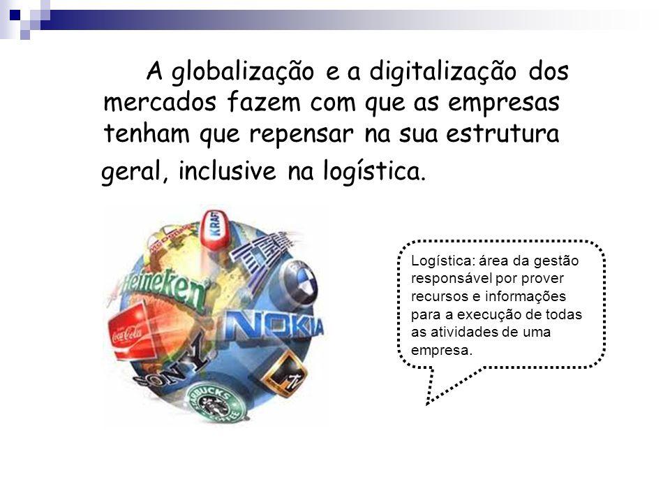 A globalização e a digitalização dos mercados fazem com que as empresas tenham que repensar na sua estrutura geral, inclusive na logística. Logística: