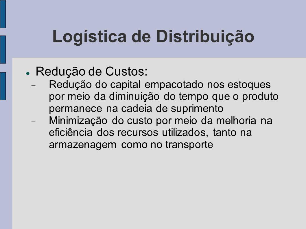 Logística de Distribuição Redução de Custos: Redução do capital empacotado nos estoques por meio da diminuição do tempo que o produto permanece na cad